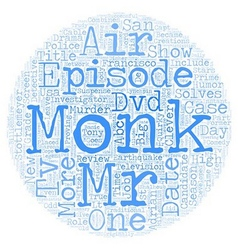 Monk DVD Review text background wordcloud concept vector