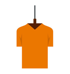 Orange tshirt icon flat style vector