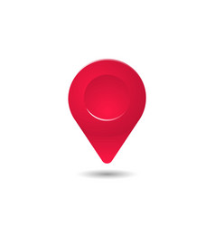 realistic red map pin pointer symbol 3d style vector image