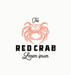 red crab abstract sign symbol or logo vector image