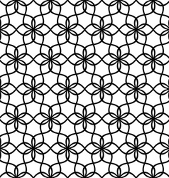 Repeating black and white wave line pattern vector