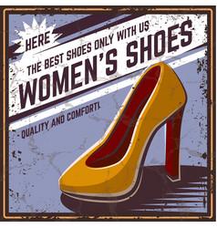 Retro poster shoes vector