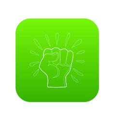 riot icon green vector image