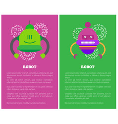 Robot futuristic creatures vector