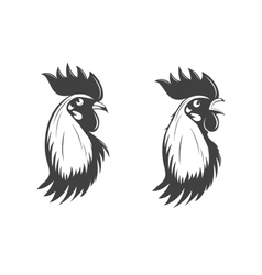 Rooster s head set symbol of 2017 vector