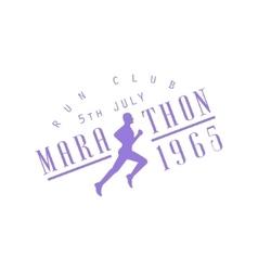 Run club purple label design vector