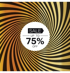 Sale card template On golden rays background vector image