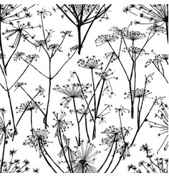 seamless pattern of umbrellas flowers vector image