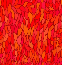 Seamless pattern with autumn leaves in orange vector