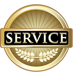 Service gold icon vector