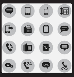 Set of 16 editable gadget icons includes symbols vector