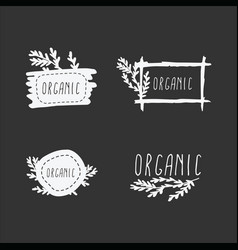 set organic badges vector image