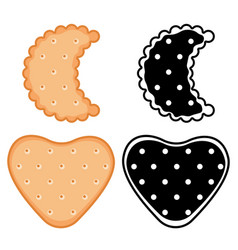 shaped cookies crackers set vector image