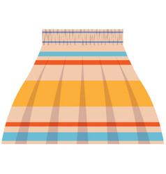 Short flared skirt isolated on white vector