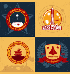 space odyssey design concept vector image