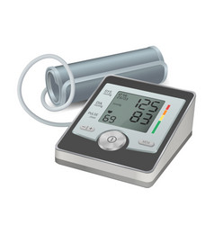 sphygmomanometer realistic icon blood pressure vector image