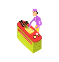 Sushi Chef Working vector image
