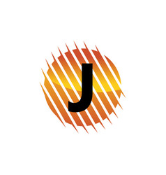 Technology letter j vector