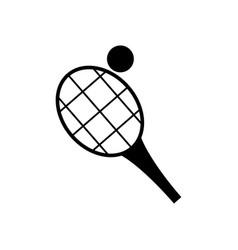 Tennis racquet and ball vector