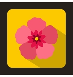 The Rose of Sharon icon flat style vector image