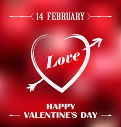 Valentines poster with red background vector image