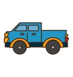 van vehicle transport isolated icon vector image