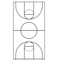 Vertical basketball court line vector