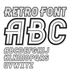 Vintage creative script cool alphabet letters set vector