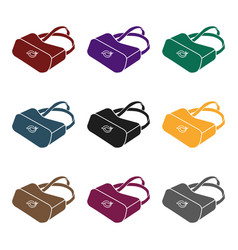 virtual reality glasses icon in black style vector image vector image