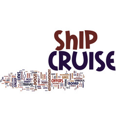 your adventure awaits on a cruise ship text vector image