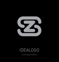 z and s logo zs - design element or icon initial vector image