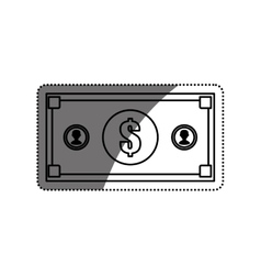 Billet money isolated vector image vector image
