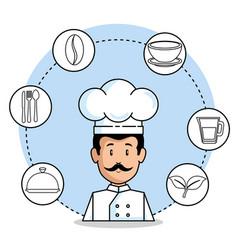 professional chef cartoon vector image