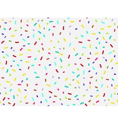 Colorful confetti seamless pattern vector image