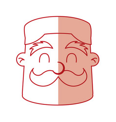 Funny chef avatar character vector