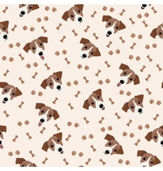 Jack Russell Terrier Seamless pattern Dog vector image vector image