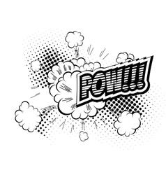 Pow - Comic Speech Bubble Cartoon vector image