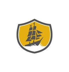 Sailing Galleon Tall Ship Crest Retro vector image vector image