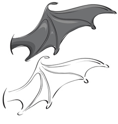 bat wings vector image