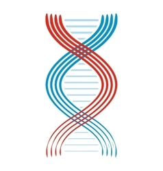 Flat DNA and molecule icon vector image