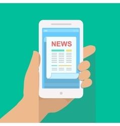 News app on smartphone screen Online digital vector image vector image