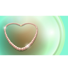 pearls necklace vector image vector image