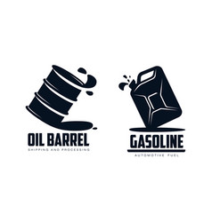 oil barrel canister flat icon vector image