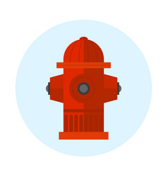 Red fire hydrant metal vector