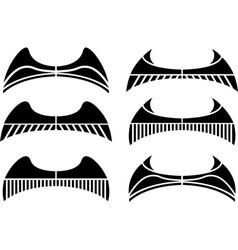set of wings stencils vector image vector image