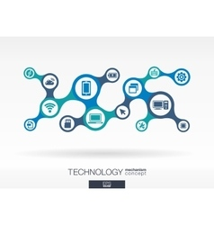 Technology Growth abstract background with vector image vector image