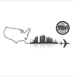 United states of america skyline buildings vector