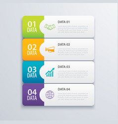 4 infographic tab index banner design vector
