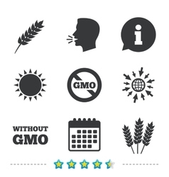 Agricultural icons GMO free symbols vector