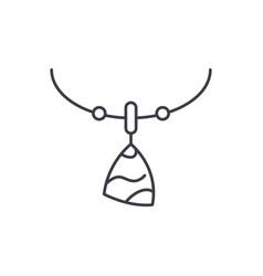 amulet line icon concept amulet linear vector image